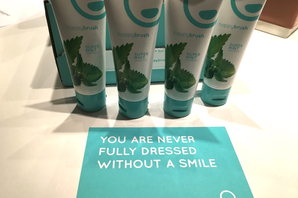 Zahnpasta die glücklich macht